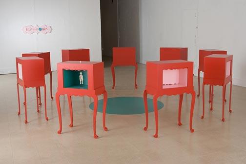 Installation view, MFA exhibition, UW-Madison