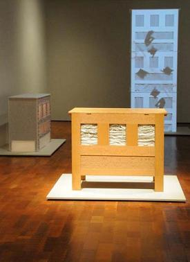 Installation view in Remains: Contemporary Artists and the Material Past Milwaukee Art Museum