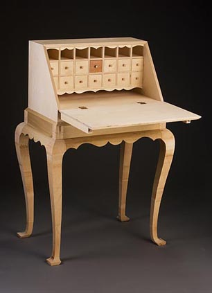 Lady's Writing Desk open plywood, poplar